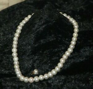 Aa White Pearl Necklace 14K Ball Clasp  with Stud Earrings