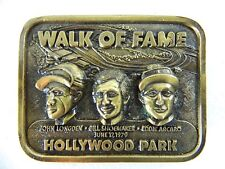 Vintage 1979 Jockeys Hollywood Park Walk of Fame Brass Belt Buckle