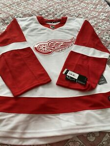 Adidas Climalite NHL Authentic Detroit Red Wings Away Road Jersey Mens Size 46