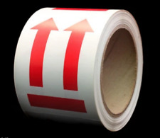 1 Roll Of 3 X 4 Red And White 2 Arrows Up With Line Under 500 Labels 1 Core