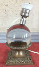boule cristal lampe Baccarat Jacques Adnet art deco
