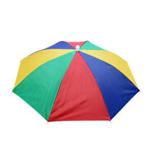Ladies Men Umbrella Headband Hat Fishing UV Protection Camping Hiking Sun Caps