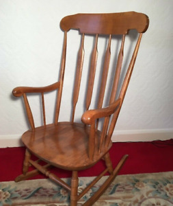 USED Windsor Wooden Rocking Chair A GOOD CONDITION
