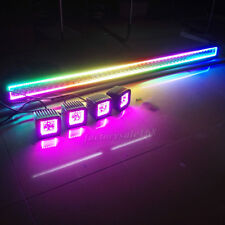 "50"" Led Light Bar with RGB Halo Ring Chasing Strobe Bluetooth + 4x 3"" Halo Pods"