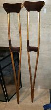 Gorgeous Oregon Arts & Crafts Haywood Wakefield-esque Pair of Bent Wood Crutches
