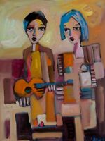 "Original Art Portrait Oil Painting on Stretched Canvas 24"" x 18"""