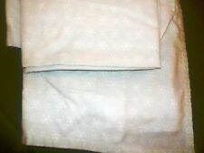 MINT GREEN DOUBLE FULL CANNON SHEET WHITE FLOWERS OR SNOWFLAKES MA-21