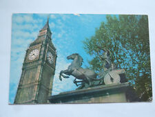 CPM Big Ben and Boadicea Statue London