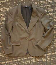 Lafayette 148 Women's 6 Wool Blend Brown One-Button Blazer Jacket Career