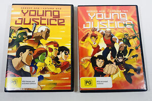 Lot X 2 Young Justice DVDs Season One 1 Volume One & Two 2 DC Comics