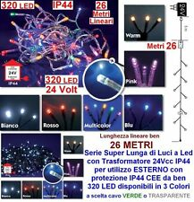 SERIE 320 LED Mt.26+5 BIANCO FREDDO CAVO VERDE ESTERNO ALTA SICUREZZA IP44 24V