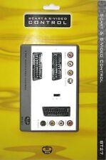 Brand New haute qualité 2 port Péritel + 2 Port RCA/Phono/Composite interrupteur, argent