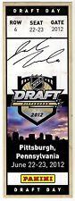 Jacob Trouba Autographed Replica 2012 NHL Draft Ticket - Panini Hologram COA