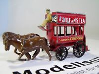 London Horse Drawn Bus Lipton's Tea Lesney No 12  MOY Models of Yesteryear