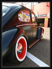"15"" Tire 4 NEW! Add on Whitewalls insert Trim Set VW BUG PRE BEETLE KARMANN Ghia"