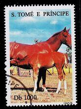 ST. THOMAS & PRINCE ISLAND  SCOTT# 1217b    USED   ANIMAL TOPICAL