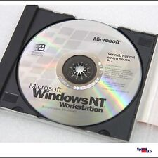 ORIGINAL MICROSOFT OEM CD MIT WIINDOWS NT WORKSTATION 4.0 DE MS COMPACT DISC