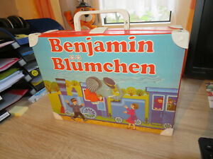 Recht rarer Kassettenkoffer Benjamin Blümchen 1980er Jahre incl. Hörspiele MC