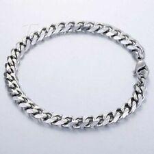 "8""-11"" Men Stainless Steel Bracelet Cuban Link Chain Silver Gold 3/5/7/9/11mm"