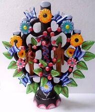 "Mexican Folk Art Metepec Pottery Ceramic Arbol de Vida Tree of Life Adam Eve 20"""