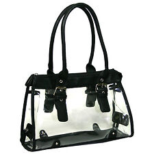 Women Transparent See Through Bag Purse Clear Handbag