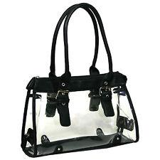 Women Transparent See Through Bag Purse Clear Handbag
