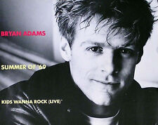 Bryan Adams 1984 B/W Summer 69 Kids Rock Promo Poster Original