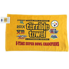 Myron Cope's Pittsburgh Steelers 6X Super Bowl Champions Terrible Towel NWT