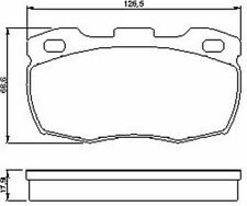 Unbranded Brake Pads, without Classic Car Part