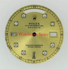 Original Men's Rolex Day-Date 18203 18238 Champagne 8+2 Diamond Dial 18KY #Z17