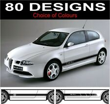 side stripes fits Alfa Romeo 147 choice of decals stickers design