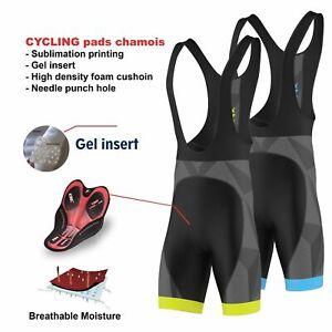 FDX Mens Classic Bib shorts Gel Padded Stylish Cycling Bib Trouser Tight Shorts
