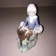 LLADRO 4812 Girl with Goat Figurine