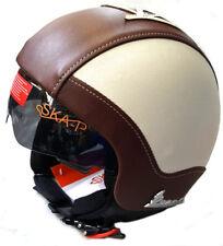Casco Jet Helmet Capacete Omologato In Ecopelle Visiera a Scomparsa Vespa Tg L
