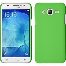 Custodia Rigida Samsung Galaxy J7 - gommata verde + pellicola protettiva