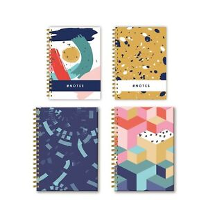 A5/A4Twinwire Spiral Journal  Lined Paper Notebook Design Pattern Notepad