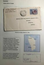 1941 Roseau Dominica Commercial Cover To Guelph Canada