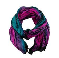 Tolani Silk Green Purple Scarf