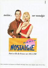 Publicité Advertising 028  1991  radio Nostagie  twiiist  Paris 105.1 fm