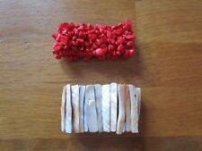 TWO STRETCHY BRACELETS ONE RED ONE NEUTRAL