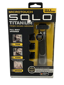 NEW & IMPROVED - MICROTOUCH SOLO TITANIUM - Full Body Groomer Trimmer