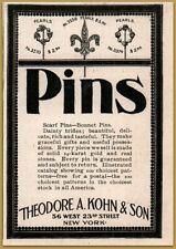 1895 c Theodore Kohn Son Jeweler Pins Scarf Bonnet Gold Pearls Print Ad
