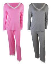Marks & Spencer M&S LACE TRIM LONG SLEEVE PYJAMA SET  top/bottoms nightdress