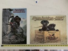 2 Remington Tin Signs. Man Cave Signs Black Lab Grizzly Bear