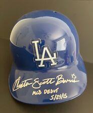 "Austin Scott Barnes Signed Los Angeles Dodgers F/S Helmet ""MLB Debut 5/24/15"""