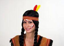 Indianerstirnband - elastisch mit Feder - Karnevalskopfbedeckung