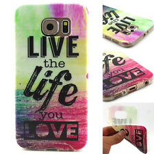 Clear Pattern Slim Soft Silicone TPU Case Cover For Samsung Galaxy S6 G9200