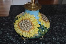 MOORCROFT SUNFLOWER POTTERY LAMP!!! MUST SEE!!!