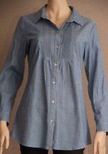 Cotton Blend Long Sleeve Button Down Shirt Machine Washable Tops & Blouses for Women