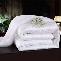 New Summer White 100% Silk Filled Comforter Quilt Duvet Coverlet Blanket Hot